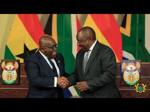 [Photos] Ghana president in South Africa for state visit