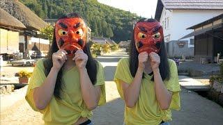 選拔大賽中勝出的中學女生組合「marble」來到南會津的宿場町「大內宿(...