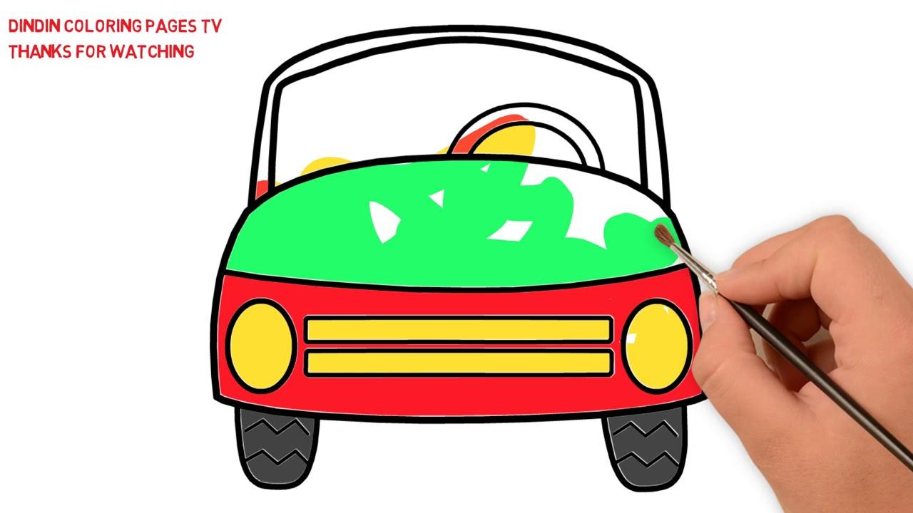 wie zeichnet man auto  malvorlagen für kinder auto  youtube