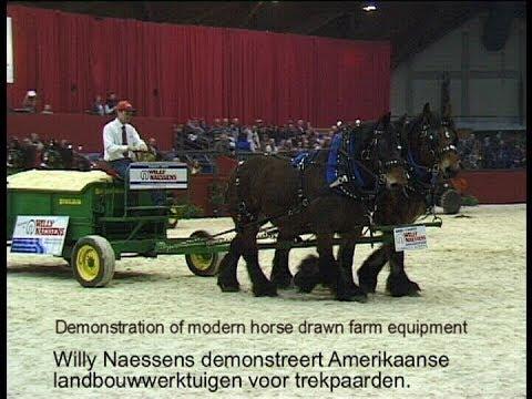 Demonstration Of Modern Horse Drawn Farm Equipment