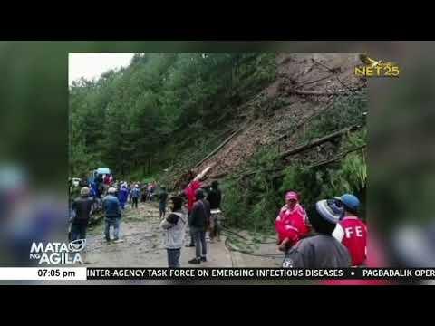 Landslide sa bahagi ng Halsema Highway sa Atok, Benguet dahil sa mga pag-ulan