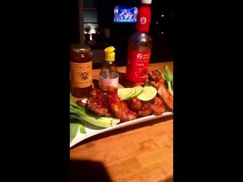 Spicy sweet duck wings