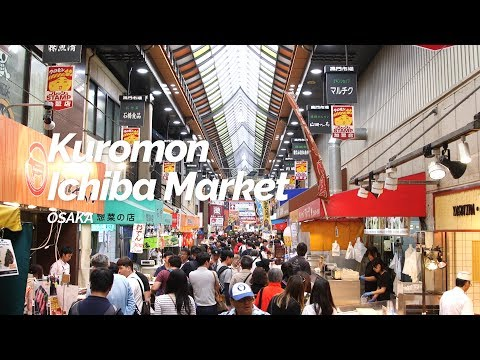 Kuromon Ichiba Market, Osaka | Japan Travel Guide