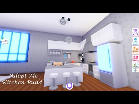 Kitchen Build Adopt Me Build Hacks Youtube
