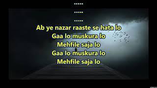 Aaj Ga Lo Muskuralo Sad - Lalkaar 1972 - Full Karaoke Scrolling Lyrics