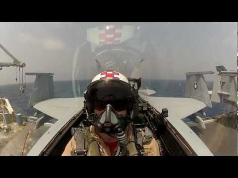 Strike Fighter Squadron - USS Enterprise - Cockpit Camera - Amazing Aerial Footage of Fighter Jet