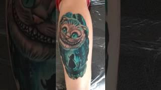 Татуировка Алиса в стране чудес