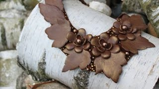 Lederschmuck Halskette Tutorial✿Украшения из кожи МК✿Leather jewelry