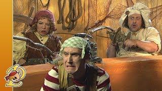 Kijk Piet Piraat wedstrijdje vissen filmpje