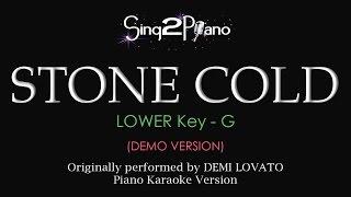 Stone Cold Lower Key Piano karaoke demo Demi Lovato.mp3