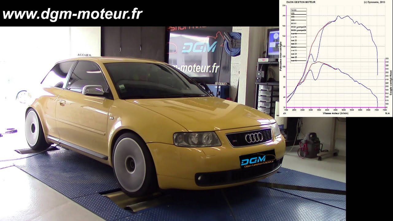 reprogrammation audi s3 1 8t 210ch dijon gestion moteur youtube. Black Bedroom Furniture Sets. Home Design Ideas