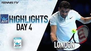 Highlights: Dimitrov Blitzes Goffin To Earn SF Spot Nitto ATP Finals 2017 Round Robin