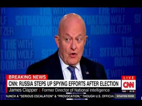 CNN Interview with Former DNI Clapper clearly stating Russia Meddled pushing back on Trump