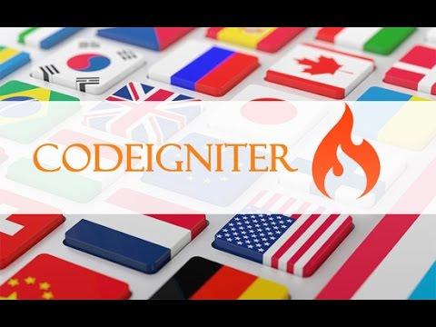 Codeigniter multi language site in 7 steps