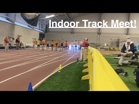 Indoor Track Meet Vlog! / Mile And 3000M Double!