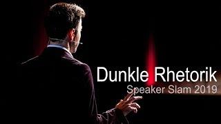 "Gambar cover Gewinnerrede beim Speaker Slam 2019 zum Thema ""Dunkle Rhetorik"""