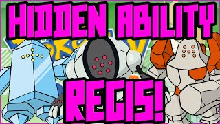 How to Get Hidden Ability Regirock Registeel Regice RIGHT NOW! | Legendary Pokebank Giveaway