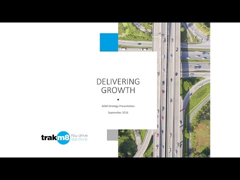 Trakm8 Strategy Presentation September 2016