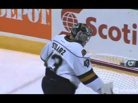 10-25-13 Erie Otters @ London Knights Adam Pelech Goal