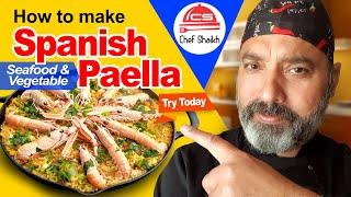 How To Make Spanish Seafood Paella - Easy, And Quick Paella Recipe.