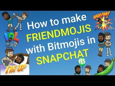 SNAPCHAT HACKS: HOW TO MAKE FRIENDMOJIS WITH A BITMOJI IN SNAPCHAT: SNAPCHAT 101