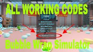 Codes - Bubble Wrap Simulator (3 CODES) Video