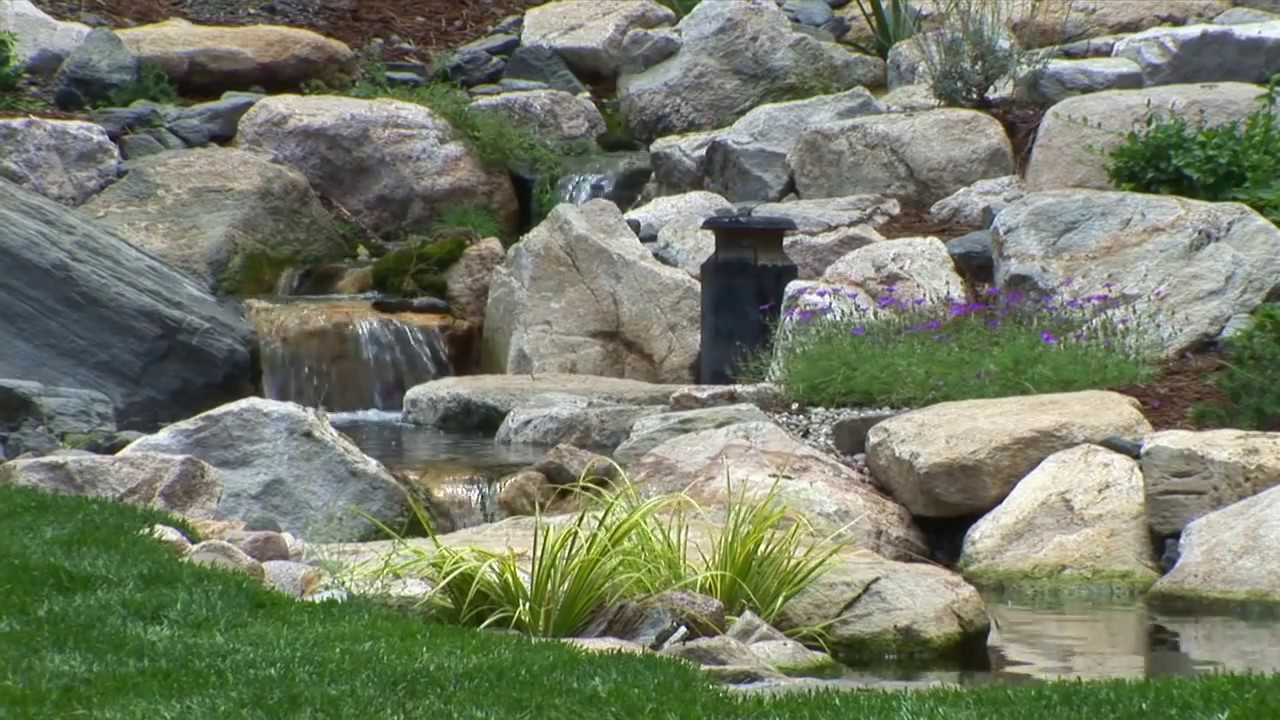 trout pond with waterfalls a dream come true youtube
