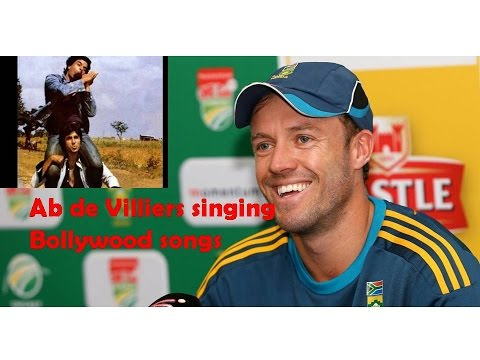 ab de villiers singing bollywood songs!