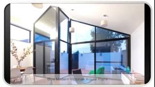 Blue Modern Victorian House Plans