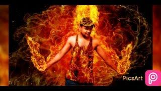 PICSART FIRE EFFECT|picsart editing fire on hand fire on body fire man manipulation realistic fire