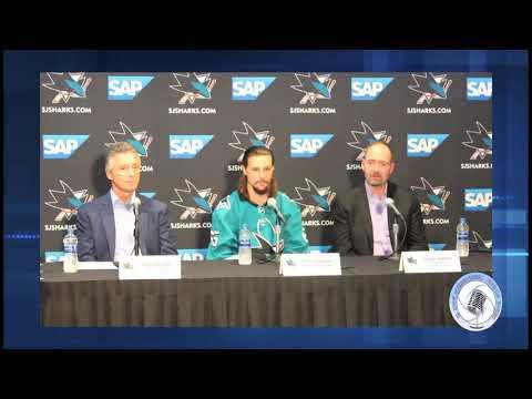 san jose sharks erik karlsson media introduction  2018-19