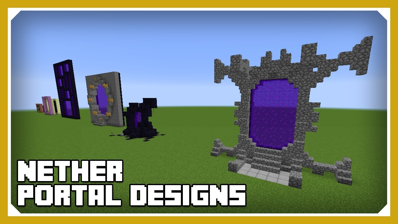 Minecraft How To Build Nether Portal Designs Tutorial