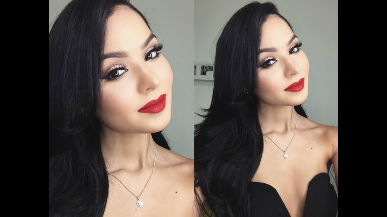 Christmas Party Makeup Ideas Part - 27: Get Ready With Me: Christmas Party!!! Makeup|Outfit|Hair - YouTube