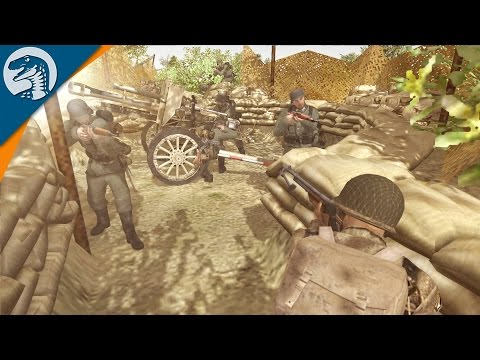 CRAZY D-DAY TRENCH ASSAULT | Band of Brothers Mod | Men of War: Assault Squad 2 [MOD] Gameplay