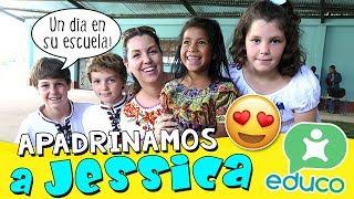 ¡¡APADRINAMOS a JESSICA!! 😊 Enseñamos JUEGOS de Patio ESPAÑOLES en una ESCUELA de GUATEMALA🎒 😀