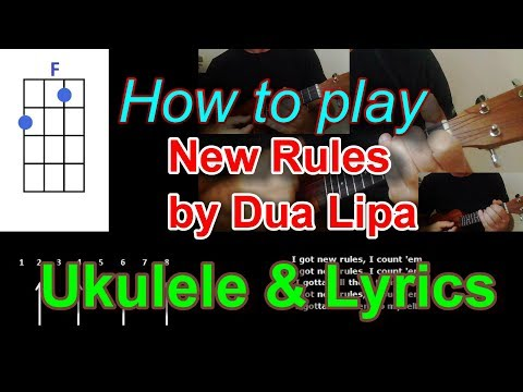 How to play New Rules by Dua Lipa Ukulele Cover