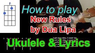 Download lagu How to play New Rules by Dua Lipa Ukulele Cover