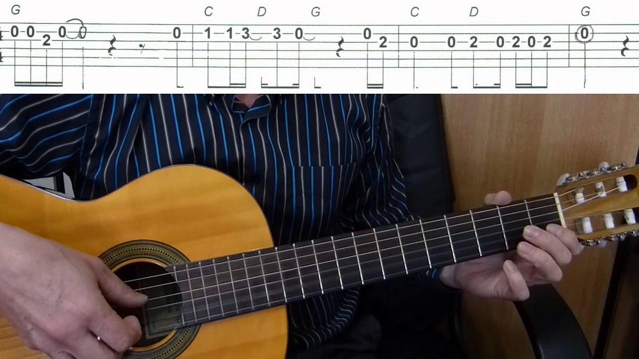 Easy Guitar Melody Tutorial + TAB
