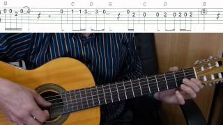 We Are the World - Easy Guitar melody tutorial + TAB Guitar lesson