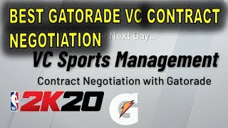 NBA 2K20 - BEST GATORADE VC CONTRACT NEGOTIATION