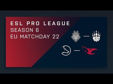 CSGO: G2 vs. BIG  – Map 1 [Cobblestone] Day 22 ESL Pro League S6 – EU 2nd Stream