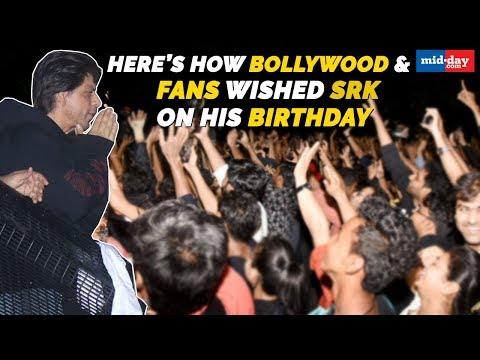 Shah Rukh Khan greets fans at Mannat   Bollywood wishes SRK on his birthday Mp3
