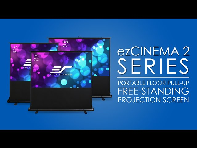 Elite Screens ezCinema 2 Portable Floor Pull-Up Projection Screen