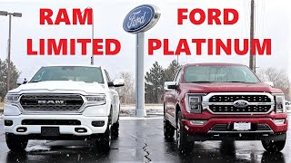 2021 Ram 1500 Limited Vs 2021 Ford F-150 Platinum: Which Truck Is The Standard Of Luxury???