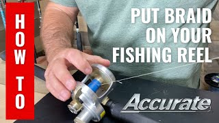 How to apply braided fishing line to your reel