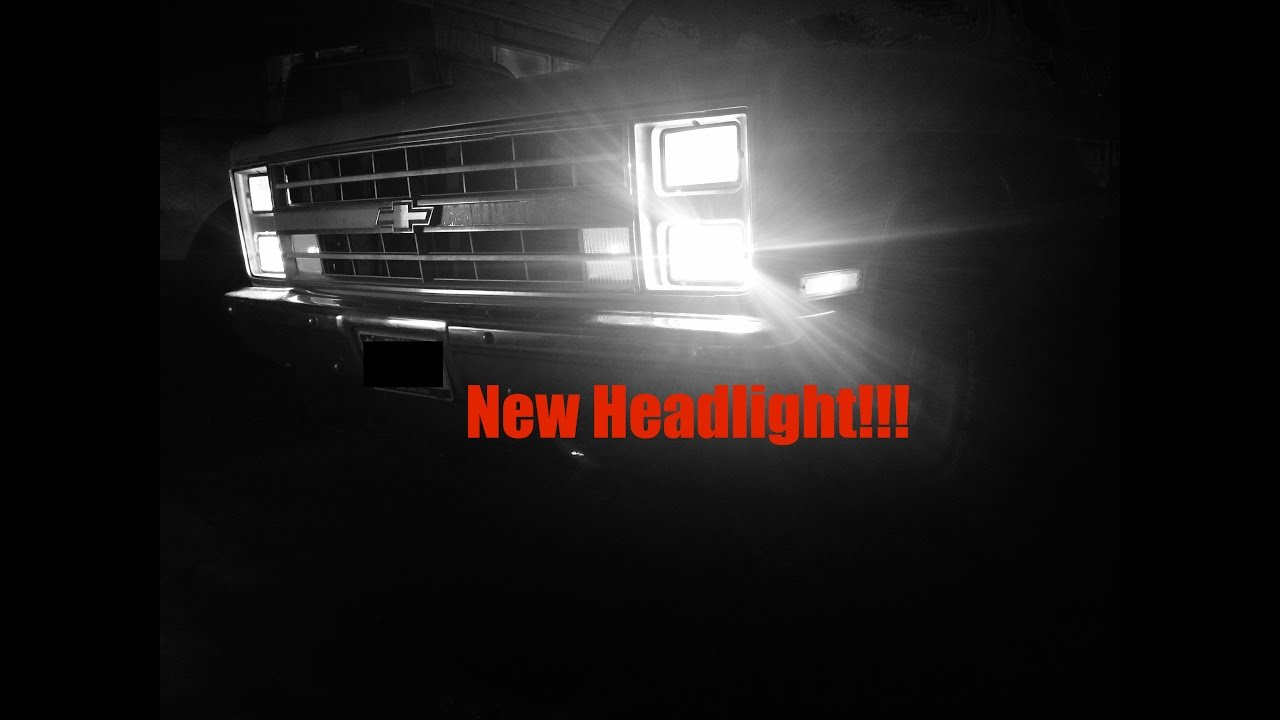 headlight install on 1985 chevy c10 [ 1280 x 720 Pixel ]