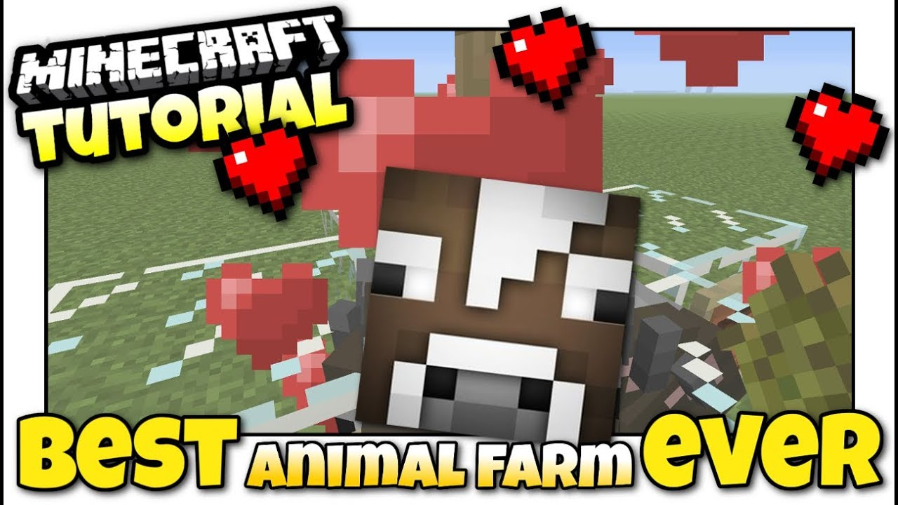 how to make an automatic animal farm in minecraft pe