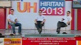 BT: Rep. Sonny Angara, Baldomero, Falcone at Dick Gordon, kinilatis sa UH Hiritan 2013