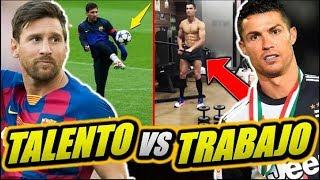 Messi vs Cristiano Ronaldo | Talento Puro vs Trabajo Puro | El talento sin esfuerzo no prospera...