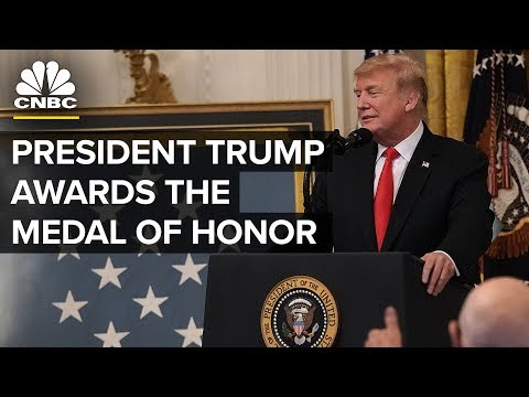 President Trump Awards the Medal of Honor to Sgt. Maj. John Canley - Oct. 17, 2018